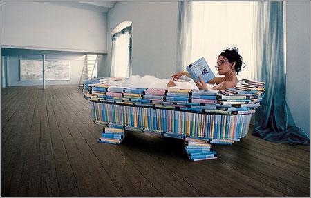 Bañera de libros por Andric