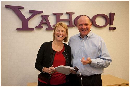 Carol Bartz y Steve Ballmer
