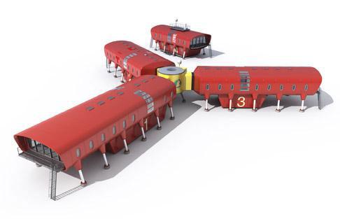 Diseño para una base antártica española por Hugh Broughton Architects