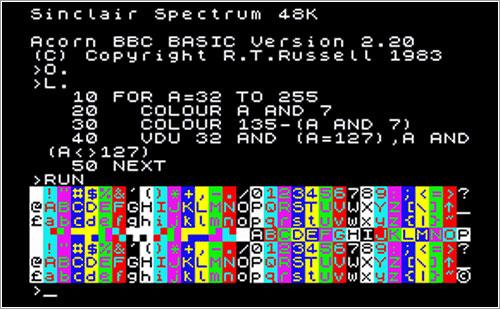 BASIC en un Spectrum