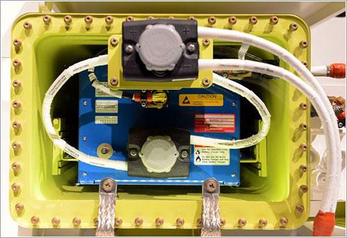 Una de las baterías modificadas