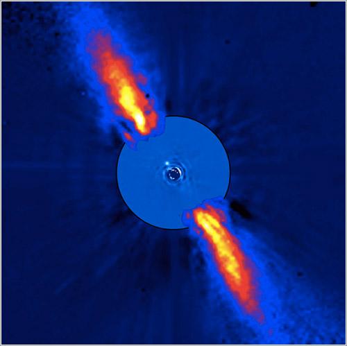 Beta pictoris por el VLT del ESO - ESO/A.-M. Lagrange et al.