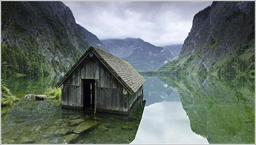 Cabaña de pescadores en Alemania