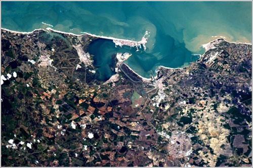 Cádiz desde la ISS