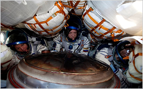 Cady Coleman en la Soyuz TMA-20