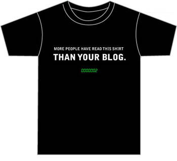 My blog shirt por Despair, Inc.