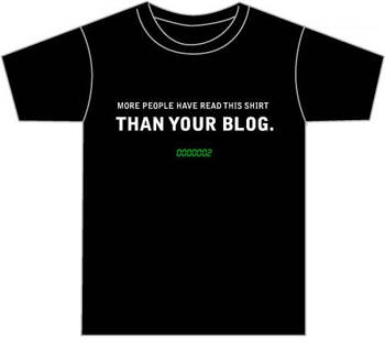 My blog shirt por Despair, Inc.