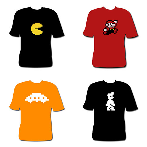 Camisetas RetroGames de Imprenta Digital Plus