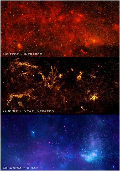 Canales de la imagen compuesta - NASA, ESA, SSC, CXC, y STScI