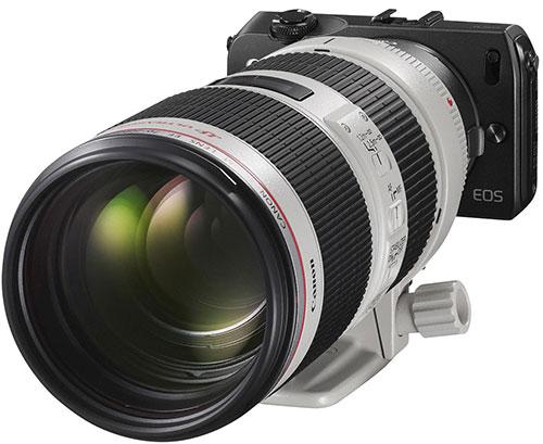 Canon EOS-M con un EF 70-200 2,8
