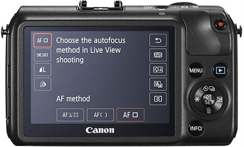 Controles de la Canon EOS-M