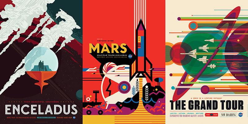 Carteles de la NASA por Insvisible Creature