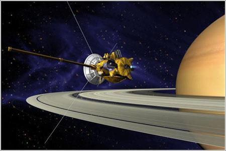 Cassini entrando en órbita - NASA/JPL-Caltech