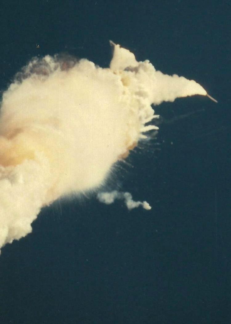 El Challenger desintegrándose