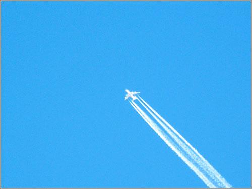 Chemtrails de un A380