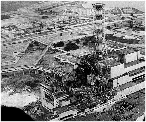 Chernobyl dos días después de la explosión