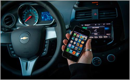 Siri en un Chevy (C) Chevrolet