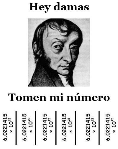 Avogadro y las damas