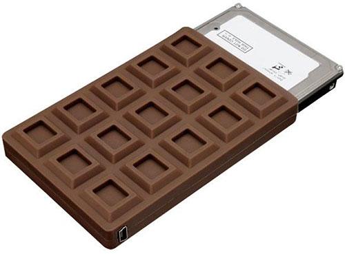 Chocoloate bar HDD USB case