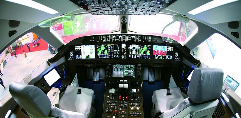 Cabina de los pilotos del C919