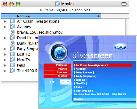 Menús SilverScreen
