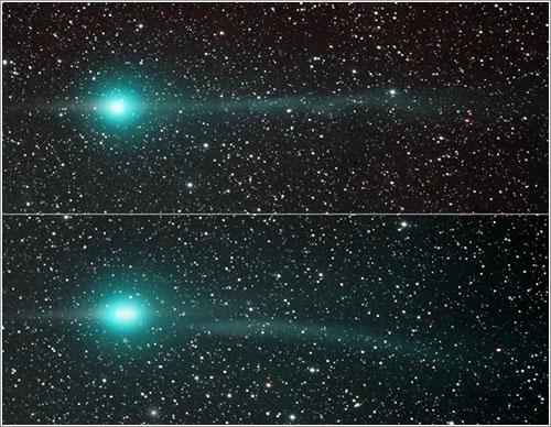 Las colas del cometa Lulin, APOD del 7-2-2009