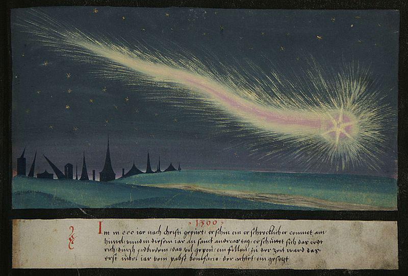 Un cometa en 1300