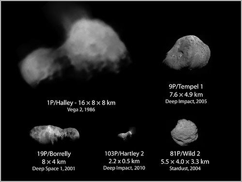 Hartley 2 y los otros cometas