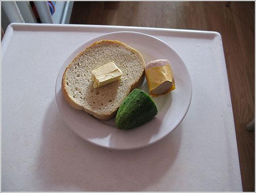 Comida servida en un hospital polaco