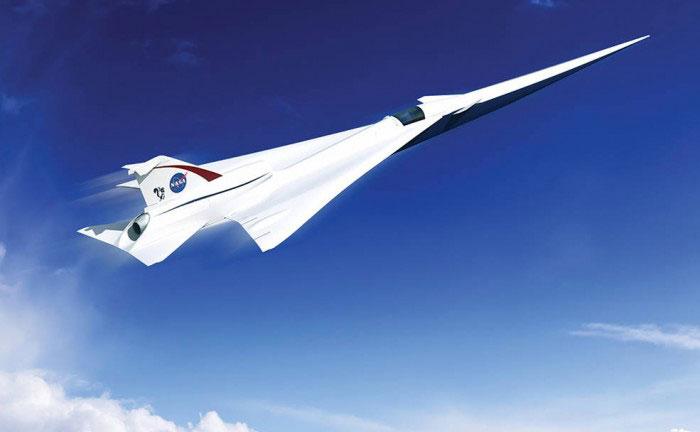 Concepto de avión supersónico