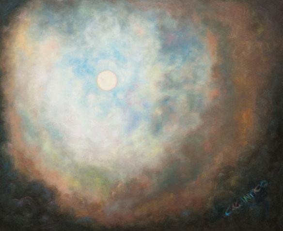 La Luna pintada por Concetta Antico