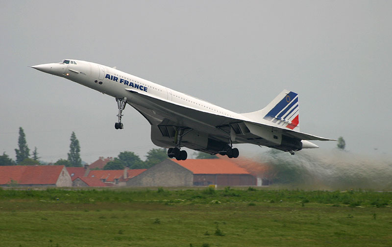 Un Concorde de Air France despega rumbo a Nueva York
