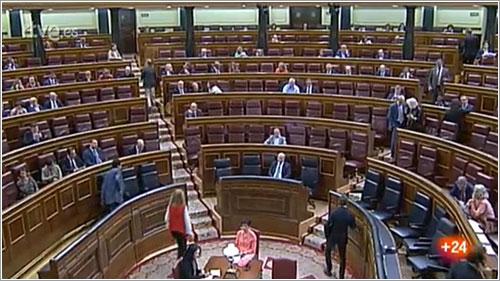 El Congreso durante la votación