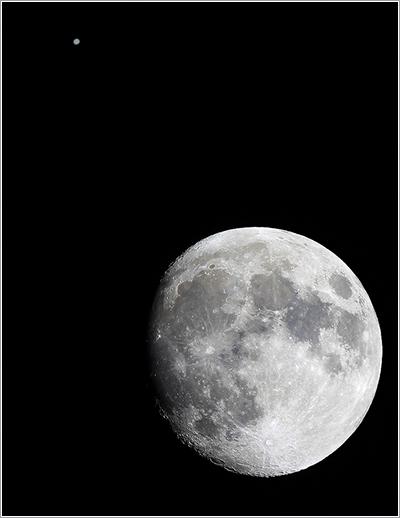 Conjunción Luna y Júpiter por Paco Bellido