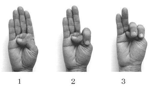 Contando con los dedos a la japonesa