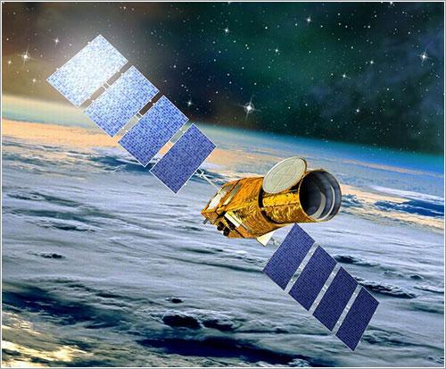 Impresión artística del COROT en órbita - CNES