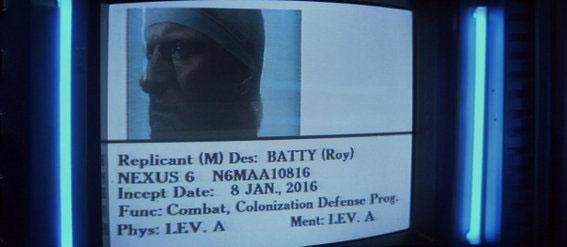 Ficha técnica de N6MAA10816, AKA Roy Batty