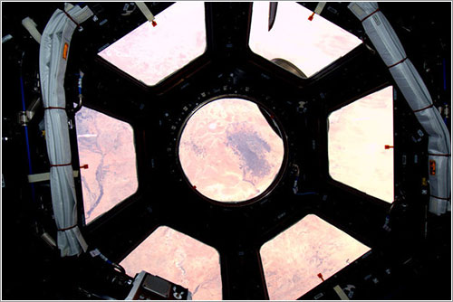 Primera foto a través de la cúpula