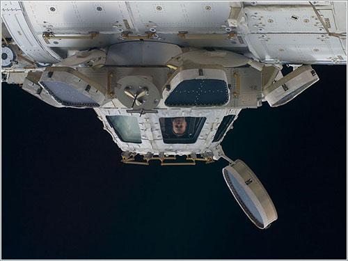 Ron Garan en la Cúpula - NASA