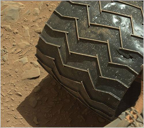 Daños en las ruedas de Curiosity