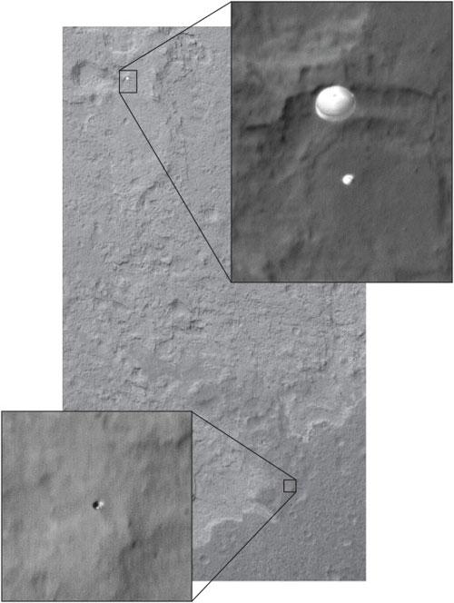 Curiosity y su escudo térmico - NASA/JPL-Caltech/Univ. of Arizona