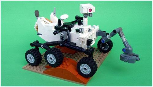 Curiosity fabricado con Lego