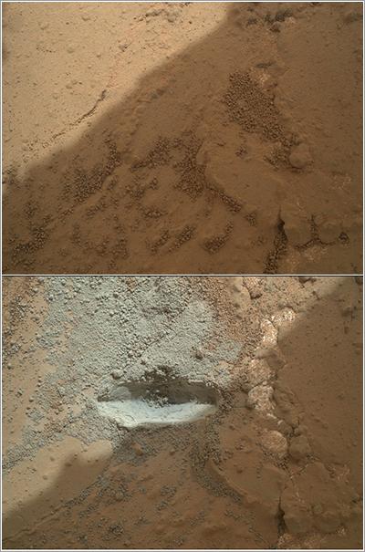 Primera perforación de Curiosity