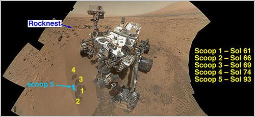 Lugar de toma de las primeras muestras - NASA/JPL-Caltech/MSSS