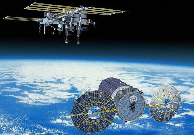 Impresión artística de una Cygnus aproximándose a la EEI
