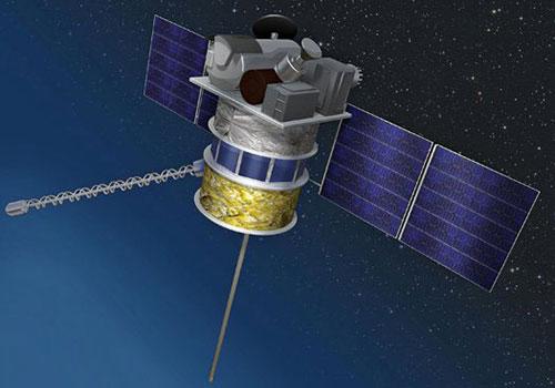 Impresión artística del DSCOVR en el espacio