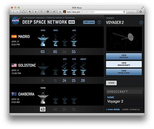 La DSN comunicándose con la Voyager 2