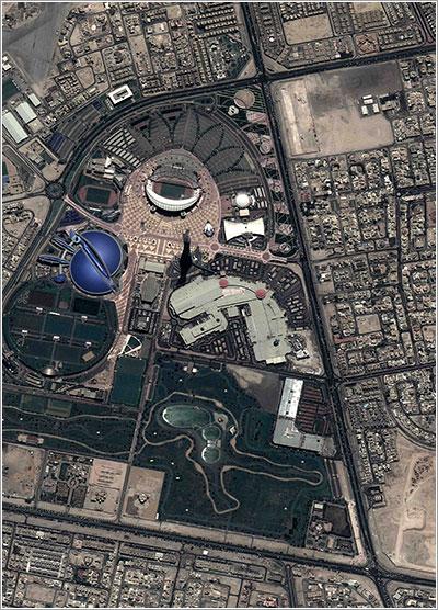 Doha desde el espacio