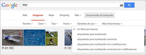 Derechos de uso en Google Images