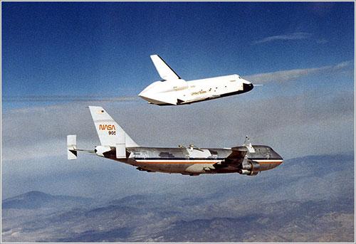 Primer vuelo libre del Enterprise - NASA